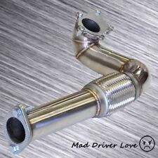 """T3/T4 TURBO EXHAUST DOWN PIPE 3"""" DIA DRIVER SIDE EXIT S/S +GASKET CIVIC INTEGRA"""