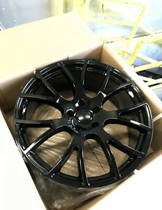 "4- 20"" Hellcat Gloss Black Wheels 20x9 NEW SRT, Charger, 300, Challenger"