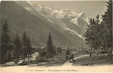 Postcard Vue Generale et le Mont-Blanc - Chamonix, France
