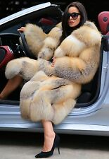 2017 GOLDEN ISLAND ROYAL FOX FUR COAT CLASS- CHINCHILLA SABLE MINK SILVER JACKET