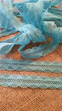 Vintage turquoise cotton double edge lace trimming embellishment