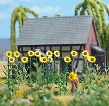 OO/HO 18 giant sun flowers for garden/field scenery - Busch 1261 - F1