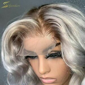 Pre Plucked Lace Frontal Human Hair Wigs HD Transparent Highlight Body Wave Wigs