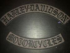 Harley Davidson Gothic Muted Olde English Rockers Patches Set Large
