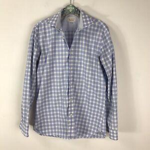 Ted Baker Endurance Men's Size 15.5 34/35  Blue Plaid Check Dress Shirt