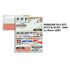Decal Porsche 911 GT1 Le Mans 1997 No. 27 & No. 29
