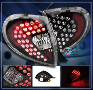 FOR 2000 2001 2002 PLYMOUTH NEON LED ALTEZZA TAIL LIGHTS REAR LAMPS BLACK PAIR