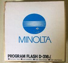 Minolta Maxxum D 316i Program Auto Flash Dynax/Alpha 3000i Looks Good Untested