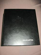 ALBUM TELECARTES YVERT TELLIER avec 14 planches plastiques + 125 carte telephone