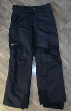 Marmot Men'S Black Snowboard Ski Waterproof Pants Sz Med