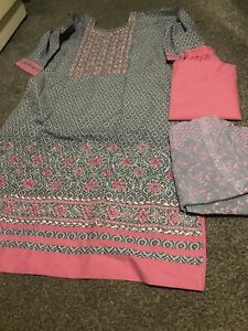 Designer Salwar Kameez Ladies Ready made Asian Indian suit Size M/L(40)
