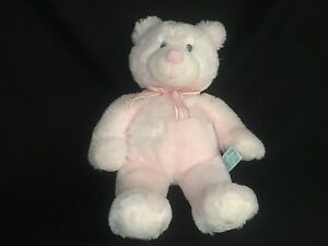 "RUSS Baby SOFT LIGHT PINK MY FIRST TEDDY BEAR 18"" Plush STUFFED ANIMAL Toy"