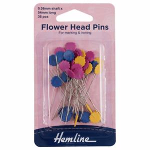 HEMLINE FLOWER HEAD PINS SEWING QUILT CRAFT USES  0.58mm x 54mm H707