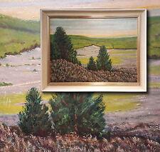 Néerlandais Côte De La Mer Du Nord. Impressionniste Peinture De Paysage,signé
