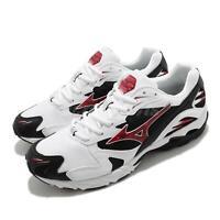 Mizuno Wave Rider 10 White Red Black Men Running Shoes Sneakers D1GA2102-01
