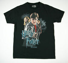 Harry Potter and the Deathly Hallows Black Graphic Tee Size Medium