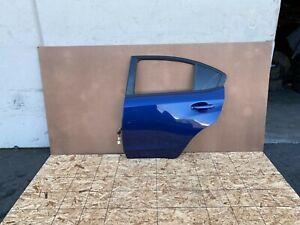 SUBARU WRX & STI 2015-2020 OEM REAR LEFT DRIVER DOOR SHELL (COMPLETE/ BLUE). #16