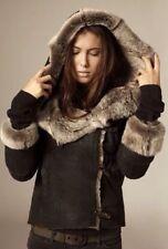 *STUNNING RARE!* AllSaints Ladies TOSCANA SHEEPSKIN FASTLANE Jacket UK6 US2 EU34