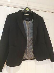 Womens Black M&S Suit Smark Jacket - Size 12