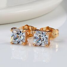 Wedding ear stud Charms Earrings 18k Yellow Gold Filled Fashion Jewelry