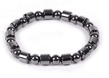 Black Magnetic Hematite Bracelet Bangle Beads Pain Relief Therapy Arthritis