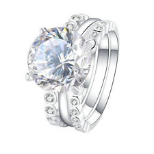 Wedding Engagement Ring 3pcs Set Size 10 5ct Round White Cz 925 Sterling Silver