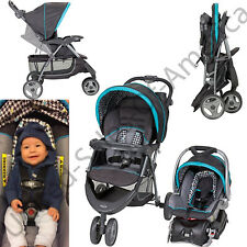 Infant Travel System Baby Car Seat Stroller EZ Ride Child Tray Hounds Tooth Gift