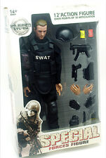 1/6 Scale Soldier 12'' Figure Black SWAT Shooter Soldier Ranger Policemen Model