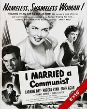 VINTAGE I MARRIED A COMMUNIST COLD WAR ERA MOVIE POSTER ART REAL CANVAS PRINT