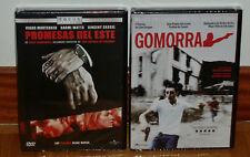 PROMESAS DEL ESTE - GOMORRA - 2 DVD - NUEVO - PRECINTADO - THRILLER - DRAMA