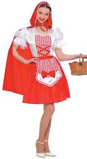 Ladies Sexy Little Red Riding Hood Halloween Fancy Dress Costume Outfit 14-16-18
