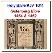 King James Bible 1611 - First Edition - Gutenberg Bible 1454 & 1462 PDFon DVD 75