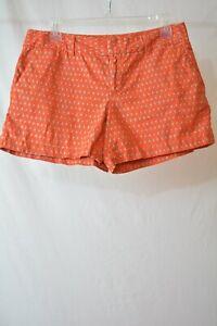 Ann Taylor LOFT: Persimmon red-orange BEIGE linen-cotton blend shorts, size 4
