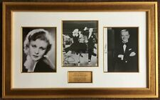 Fred Astaire and Ginger Rogers signed authentic certified autograph - framed