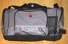 SWISS GEAR By WENGER BLACK CARRY ON Travel CAMPING GYM DUFFLE BAG
