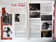 COUPURE DE PRESSE-CLIPPING : H.R. GIGER [2pages] 08-09/2008 Interview