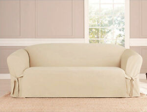 KASHI HOME MICROSUEDE SLIPCOVER SOFA LOVESEAT CHAIR FURNITURE COVER, 5 COLORS