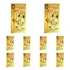 LOT 10 X 1 NEW HAMPSHIRE GOLDBACK AURUM 24KT GOLD FOIL NOTE BU 1/1000TH OZ