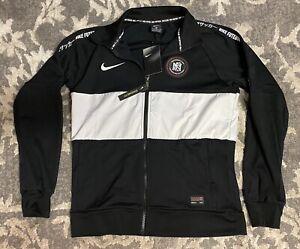 Nike Dri-Fit FC Soccer Track Jacket Black White Mens Sz Medium AH9519-013 NEW!!!