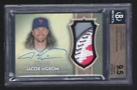 2017 Topps Dynasty Jacob DeGrom Patch Gold Autograph #2/5 BGS 9.5/10 Mets
