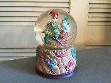 Disney The Little Mermaid Glitter Snow Globe Classic RARE Flounder Ariel
