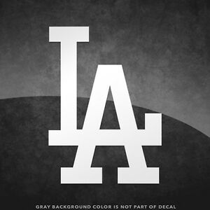 """Los Angeles Dodgers LA Vinyl Decal Sticker - 4"""" and Larger Sizes Available MLB"""