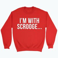 Christmas Jumper Bah humbug Sweater Top Xmas Grinch Gift Funny Xmas Gift Scrooge