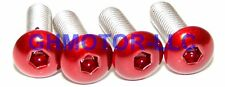 05 06 ZX6R ZX6RR 636 CANDY RED COMPLETE FAIRING BOLTS SCREWS FASTENERS KIT USA
