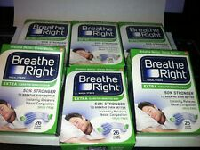 Lot Of 6  BREATHE RIGHT NASAL STRIPS EXTRA CLEAR ( 6 X 26 CT BOXES )