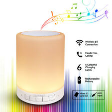 Touch Control LED Desk Lamp Dimmable RGB Bluetooth Speaker USB charge Nightlight