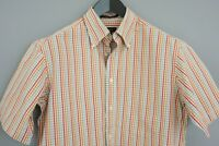 Men Gant Shirt Pinpoint Oxford Short Sleeves Cotton Casual Size M VAA310