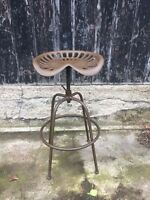 Tractor Bar Stool Adjustable Vintage Retro Cast Iron Industrial 7 Colours