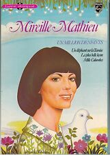 """LIVRE DISQUE 45 T EP MIREILLE MATHIEU  """"UN MILLION D'ENFANTS"""""""