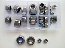 32pcs M6 M8 M10 M12 Stainless Steel Nylon Lock Nut Right Left Hand Locking Nuts